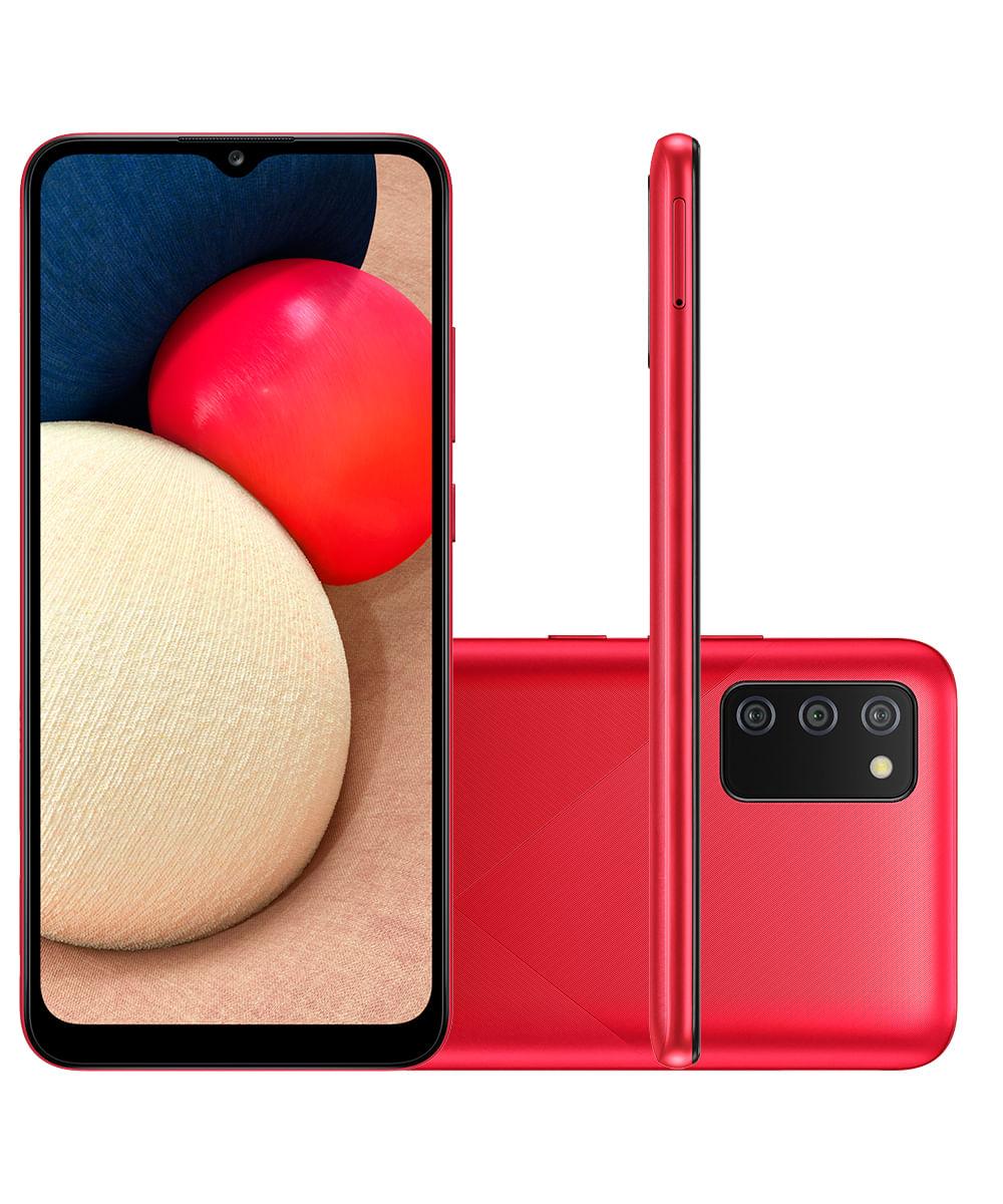 Smartphone Samsung A025M Galaxy A02s 32GB Vermelho