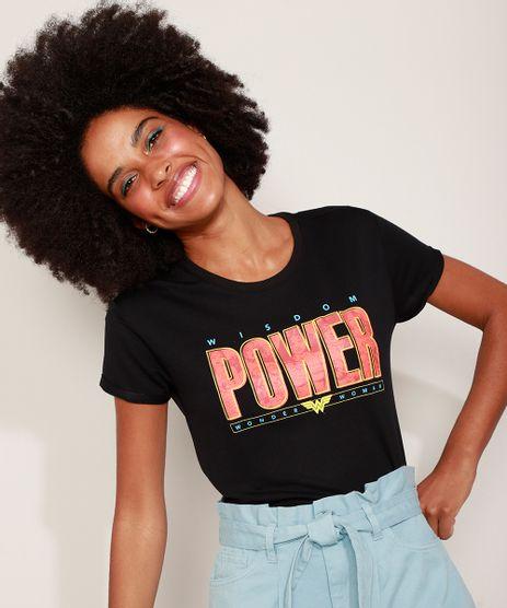 Camiseta-de-Moletinho-Feminina-Mulher-Maravilha-Manga-Curta-Decote-Redondo-Preta-9974097-Preto_1
