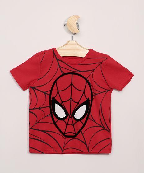 Camiseta-Infantil-Homem-Aranha-Florcado-Manga-Curta--Vermelha-9963400-Vermelho_1