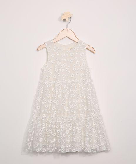 Vestido-de-Tule-Infantil-Estampado-Floral-com-Glitter-e-Recortes-Sem-Manga-Off-White-9953851-Off_White_1