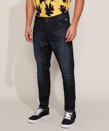 Calca-Jeans-Masculina-Carrot-com-Bolsos-Azul-Escuro-9971688-Azul_Escuro_1