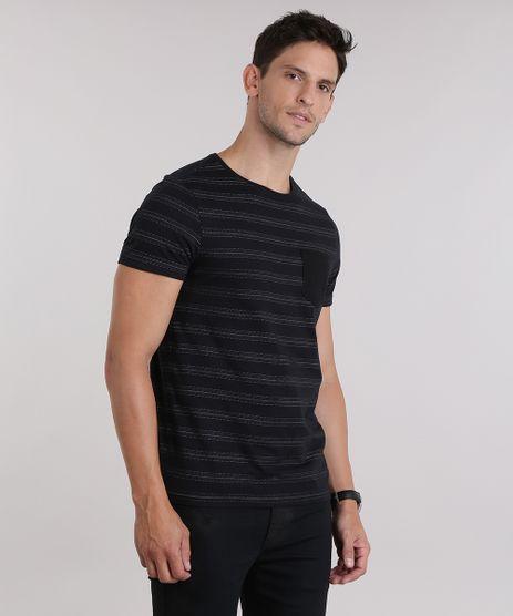 Camiseta-Listrada-com-Bolso-Preta-8975139-Preto_1