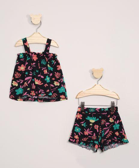 Conjunto-Infantil-de-Regata-Estampada-Floral---Short-com-Babado-Azul-Marinho-9966921-Azul_Marinho_1