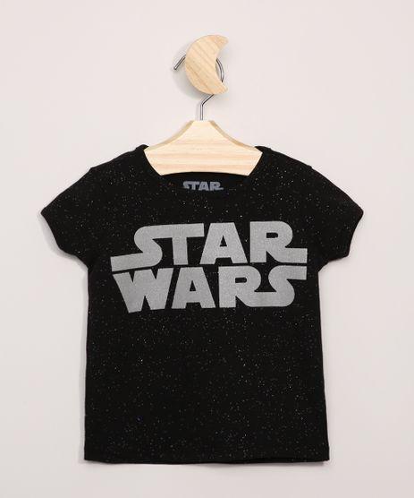 Blusa-infantil-Star-Wars-com-Glitter-Manga-Curta-Preta-9973995-Preto_1