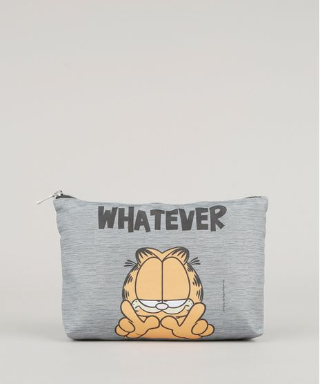 Necessaire-Garfield--Whatever--Cinza-Mescla-9008151-Cinza_Mescla_1