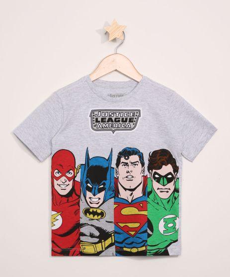 Camiseta-Infantil-Liga-da-Justica-Manga-Curta-Cinza-Mescla-Claro-9967959-Cinza_Mescla_Claro_1