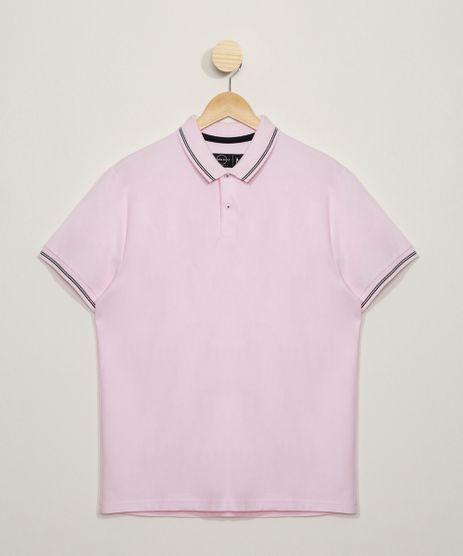 Polo-Masculina-Basica-Comfort-em-Piquet-Manga-Curta-com-Bolso-Rosa-Claro-9536088-Rosa_Claro_1