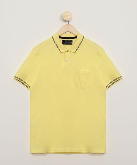 Polo-Masculina-Basica-Comfort-em-Piquet-Manga-Curta-com-Bolso-Amarelo-Claro-9536088-Amarelo_Claro_1