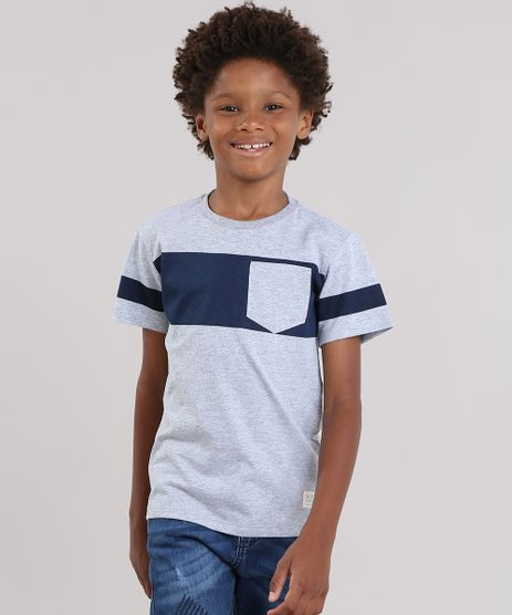 Camiseta-com-Listras-e-Bolso-Cinza-Mescla-9038640-Cinza_Mescla_1