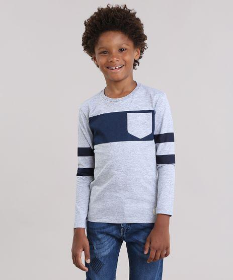 Camiseta-com-Listras-e-Bolso-Cinza-Mescla-9037945-Cinza_Mescla_1