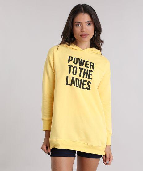 Blusao-em-Moletom-Longo--Power-To-The-Ladies--Amarela-8977192-Amarelo_1