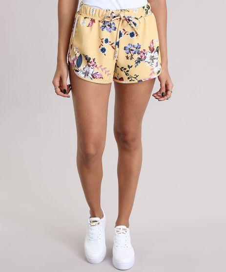 Short-Running-Estampado-Floral-Amarelo-8977200-Amarelo_1