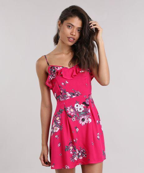 Vestido-Estampado-Floral-com-Babado-Pink-8850438-Pink_1