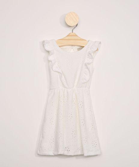 Vestido-de-Laise-Infantil-com-Babados-Manga-Curta-Decote-Redondo-Off-White-9966007-Off_White_1