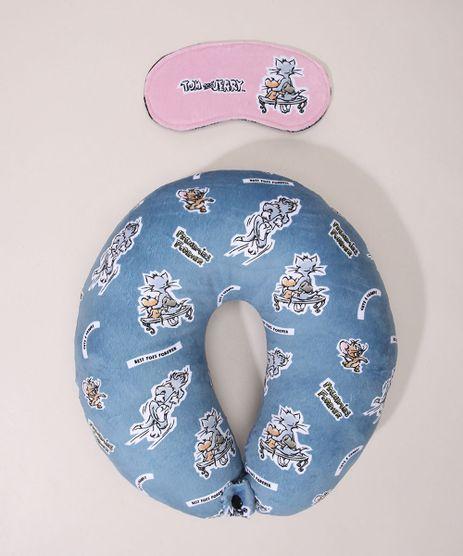 Kit-de-Apoio-de-Pescoco-Tom-e-Jerry-Estampado---Tapa-Olho-Azul-Claro-9978577-Azul_Claro_1