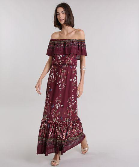 Vestido-Longo-Ombro-a-Ombro-Estampado-Floral-Vinho-8968703-Vinho_1