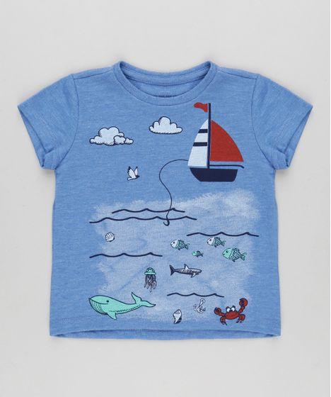 ef0cdc657d987 Camiseta-com-Estampa-de-Barco-Azul-9030313-Azul 1 ...