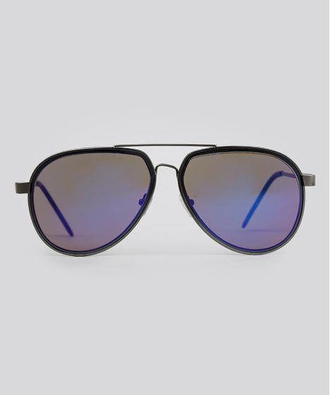 b7c312586c5c6 Oculos-de-Sol-Aviador-Masculino-Oneself-Grafite-9093508- ...