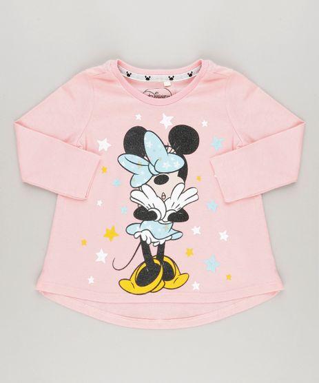 Blusa-Minnie-com-Glitter-em-Algodao---Sustentavel-Rosa-9042620-Rosa_1