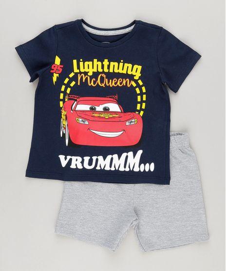 Conjunto-de-Camiseta-Carros-Azul-Marinho---Bermuda-em-Moletom-Cinza-Mescla-9029279-Cinza_Mescla_1