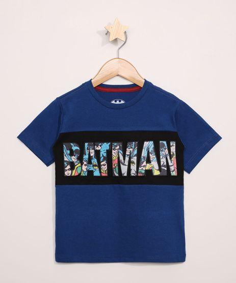 Camiseta-Infantil-Batman-Quadrinhos-com-Recorte-Manga-Curta-Azul-9968323-Azul_1