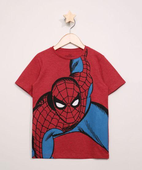 Camiseta-Infantil-Homem-Aranha-Manga-Curta-Vermelha-9973304-Vermelho_1