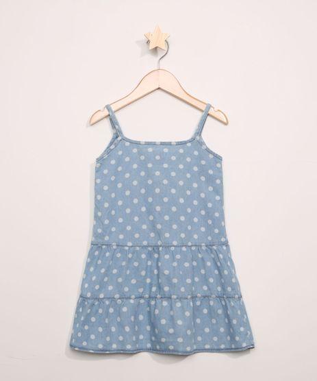 Vestido-Jeans-Infantil-Estampado-de-Poa-com-Babados-Sem-Manga-Azul-Claro-9965542-Azul_Claro_1