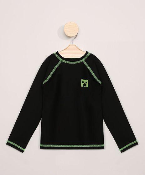 Camiseta-de-Praia-Infantil-Minecraft-Manga-Longa-com-Protecao-UV50--Preta-9966220-Preto_1