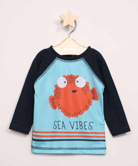 Camiseta-de-Praia-Infantil-Raglan-Peixe-Manga-Longa-com-Protecao-UV50--Azul-9966200-Azul_1