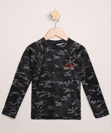 Camiseta-de-Praia-Jurassic-Park-Estampada-Camuflada-Manga-Longa-com-Protecao-UV50--Preta-9966209-Preto_1