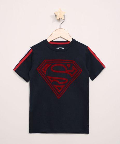 Camiseta-Infantil-Super-Homem-Flocada-Manga-Curta-Azul-Marinho-9968322-Azul_Marinho_1