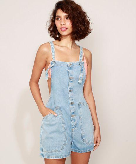 Jardineira-Jeans-Feminina-com-Bolsos-Azul-Claro-9975362-Azul_Claro_1