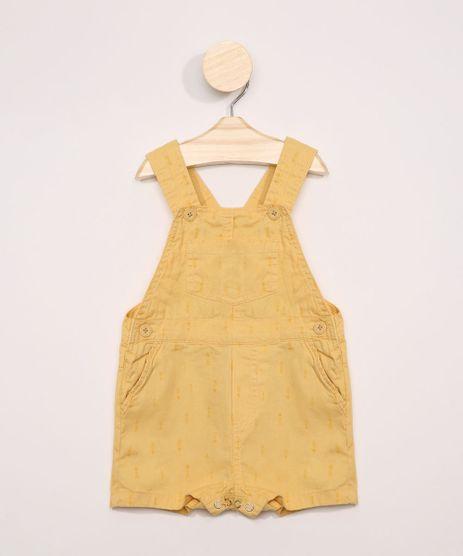 Jardineira-de-Sarja-Infantil-Estampada-de-Flechas-com-Bolsos-Amarelo-9969138-Amarelo_1
