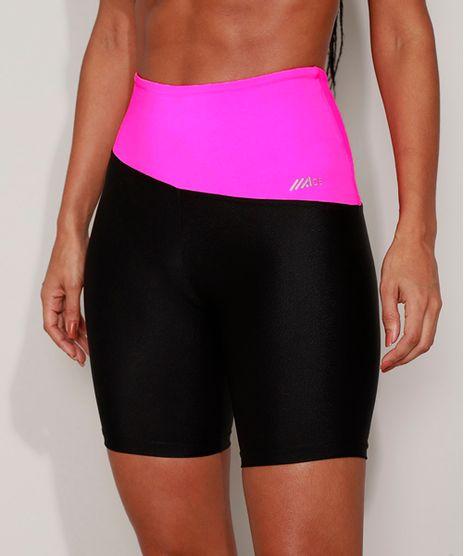 Bermuda-Feminina-Esportiva-Ace-Cintura-Alta-Color-Block-Preta-9968026-Preto_1