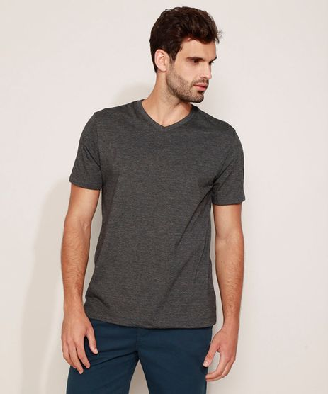 Camiseta-Masculina-Basica-Manga-Curta-Gola-V-Cinza-Mescla-Escuro-9965027-Cinza_Mescla_Escuro_1