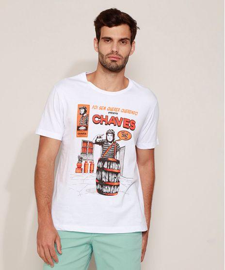 Camiseta-Masculina-Chaves-Manga-Curta-Gola-Careca-Branca-9963623-Branco_1
