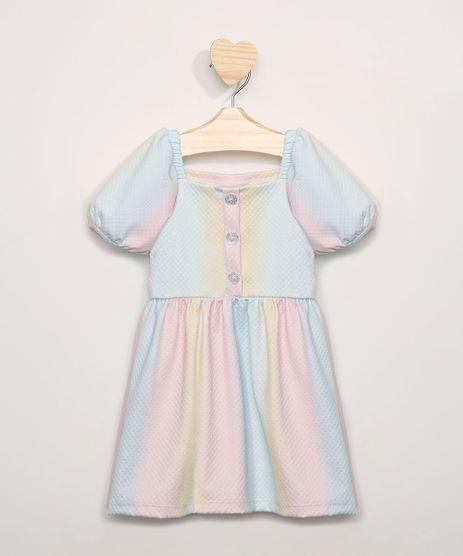 Vestido-Infantil-Estampado-Tie-Dye-Manga-Curta-Bufante-Multicor-9967242-Multicor_1