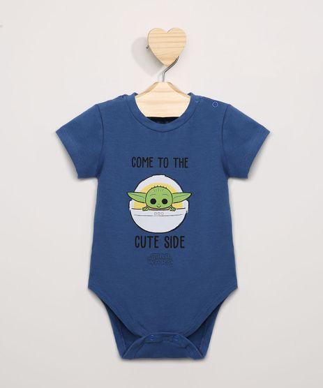 Body-Infantil-Baby-Yoda--Come-To-The-Cute-Side--Manga-Curta-Azul-Escuro-9974670-Azul_Escuro_1