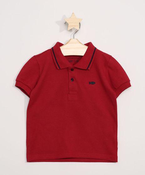 Polo-Infantil-com-Recortes-Manga-Curta-Vermelha-9964255-Vermelho_1