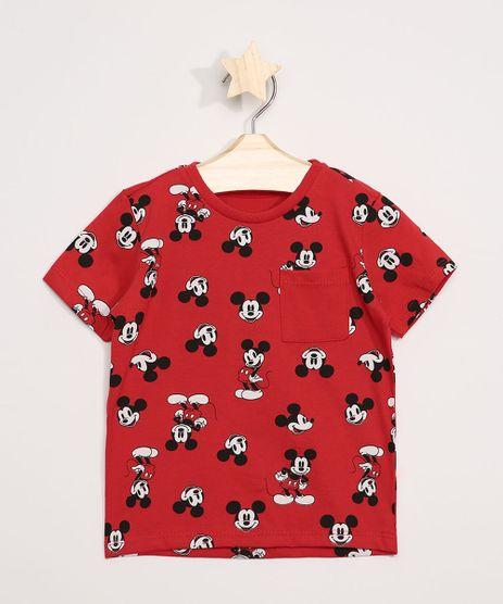 Camiseta-Infantil-Mickey-Manga-Curta-com-Bolso-Vermelha-9963397-Vermelho_1