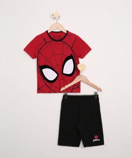 Pijama-Infantil-Homem-Aranha-Manga-Curta-Vermelho-9966392-Vermelho_1