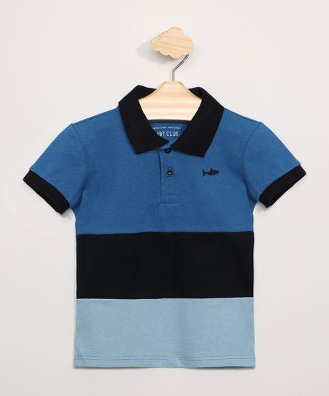 Polo-Infantil-Piquet-com-Recortes-Manga-Curta-Azul-9964256-Azul_1