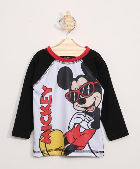 Camiseta-de-Praia-Infantil-Mickey-Raglan-Manga-Longa-com-Protecao-UV50--Preta-9966190-Preto_1