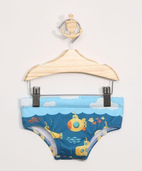 Sunga-Infantil-Tradicional-Estampada-Submarino-com-Protecao-UV50---Azul-9973904-Azul_1