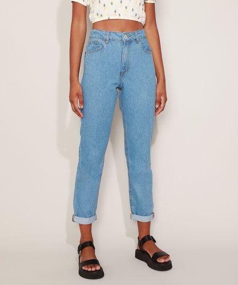 Calca-Jeans-Feminina-Mom-Cintura-Super-Alta-Azul-Medio-9204362-Azul_Medio_1