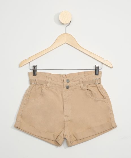 Short-de-Sarja-Juvenil-Clochard-Cintura-Alta-Bege-9966957-Bege_1
