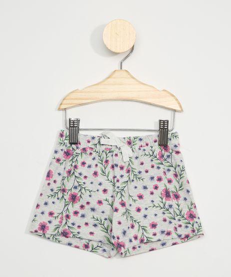 Short-Infantil-Estampado-Floral-Cinza-Mescla-9971441-Cinza_Mescla_1