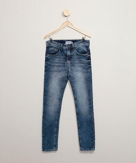 Calca-Jeans-em-Moletom-Masculina-Skinny-Azul-Medio-9859783-Azul_Medio_1