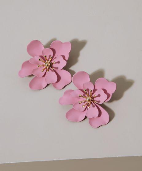 Brinco-Feminino-de-Flor-Rosa-9962240-Rosa_1