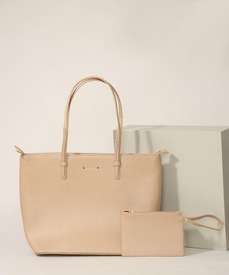Bolsa-Feminina-Shopper-Grande-com-Carteira-Bege-9945776-Bege_1